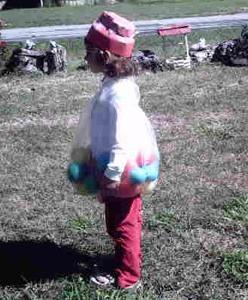 A bubble gum machine Halloween costume.