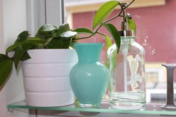 Painted vase upright.