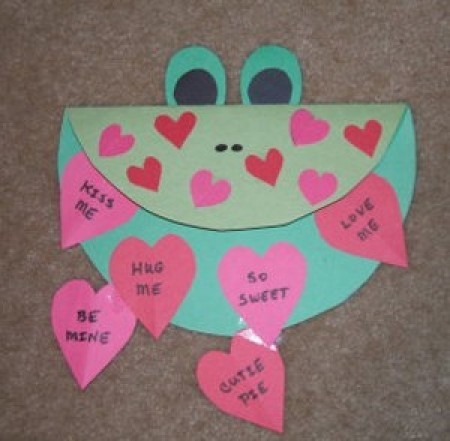 Froggy Valentine Card