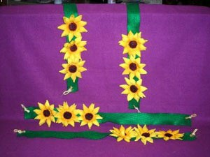 Sunflower tie backs.