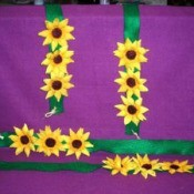 Sunflower tie backs.