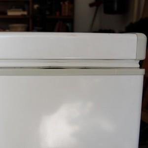 Bent Gasket on a Chest Freezer