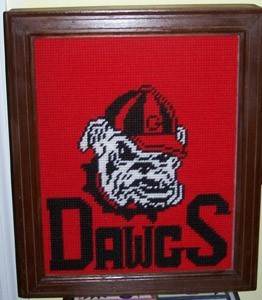 University of Georgia Dawgs motif