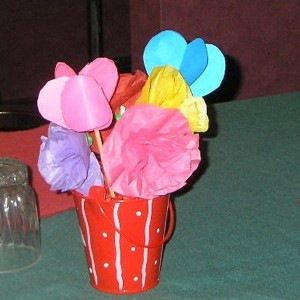 paper flower bouquet