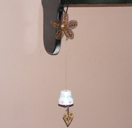 small hanging bell decoration