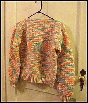 Mulitcolor crochet sweater.