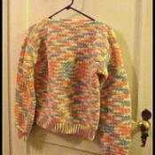 Mulitcolor crochet sweater.