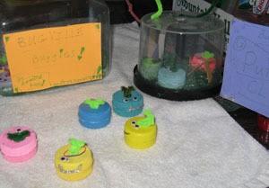 Bottle lid bugs.