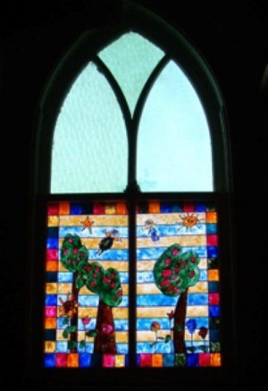 """Colored """"Stained Glass"""" Window"""