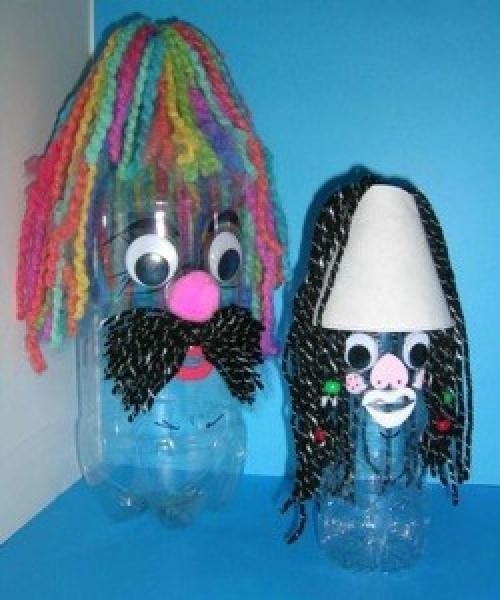 decorated plastic bottles