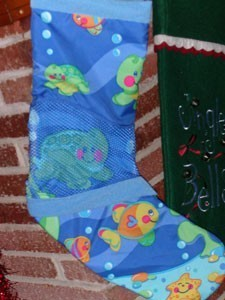 Recycled Baby Stocking