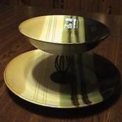 homemade two tier serving platter