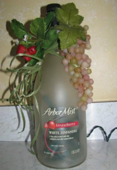 Grape Leaf Wine Bottle