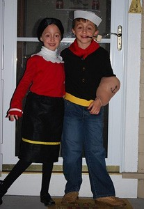 Tip Popeye and Olive Oyl Costumes  sc 1 st  ThriftyFun.com & Making Popeye and Olive Oyl Costumes | ThriftyFun