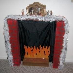 decorative Christmas fireplace