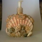 Sea shell soap dispenser.