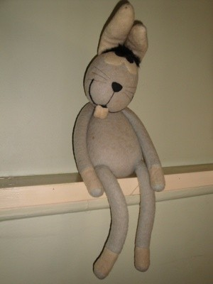Old Stuffed Toy Rabbit