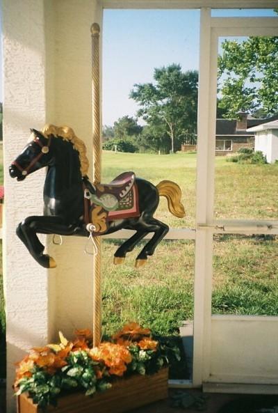 refurbished child's rocking horse