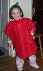 Girl in Strawberry Costume