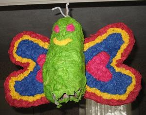 brightly colored piñata