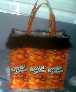 Juice pouch purse.