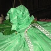 Green tissue rose.