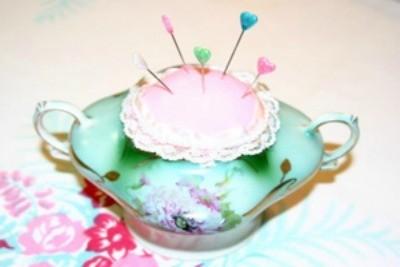 sugar bowl pin cushion