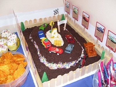 Decorate Cake with Thrift Store Toys