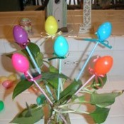 Easter egg picks arrangement.