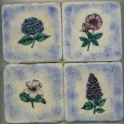 Painted Coaster Tiles