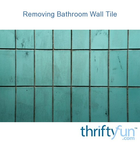 speakers are remove tile from bathroom wall with