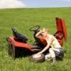 removing riding mower wheel