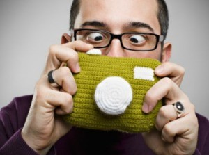 a crochet camera