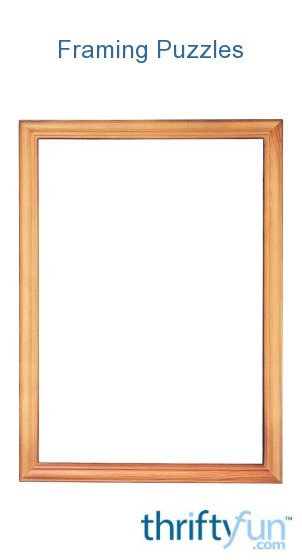 Framing Completed Puzzles | ThriftyFun