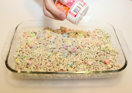 adding sprinkles