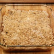 cinnamon apple crumble