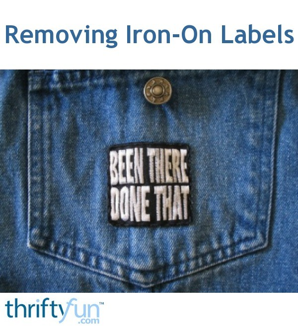 Removing Iron-On Labels and Patches | ThriftyFun