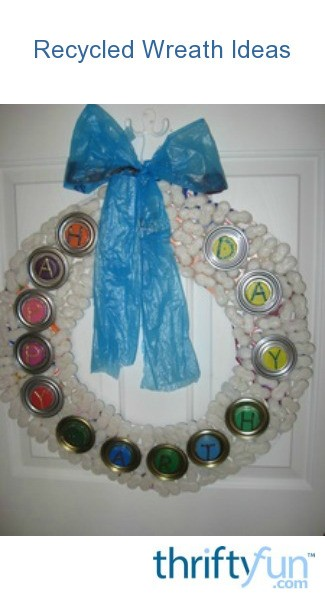 Recycled Wreath Ideas Thriftyfun