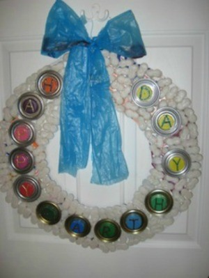 Recycled Wreath Ideas