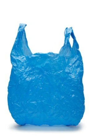 Blue Shopping Plastic Bag