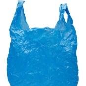 Blue Shopping Plastic Bag