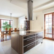 nice kitchen with tile flooring
