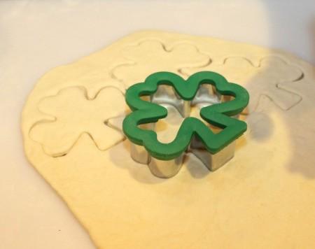 cutting dough with cutter