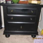 Black nightstand.