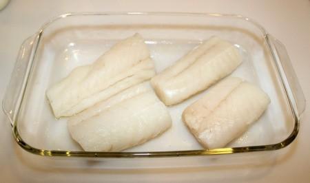 cod in pan