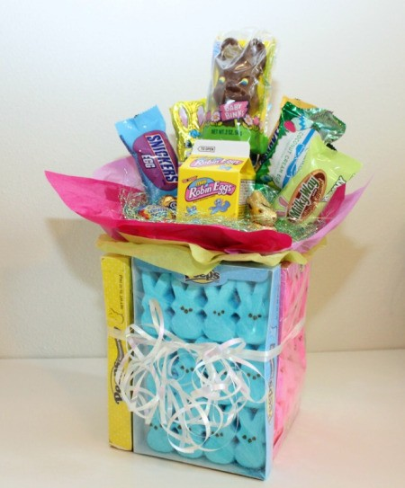 easter peeps candy bouquet