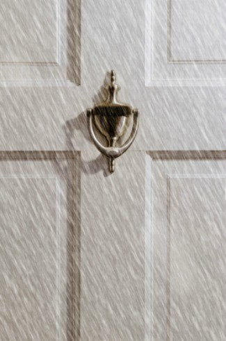 Front Door Of A House During Winter