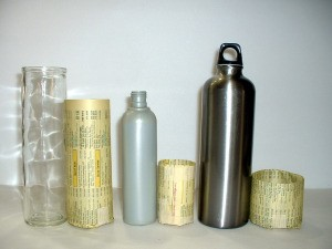 Containers used for wrapping.
