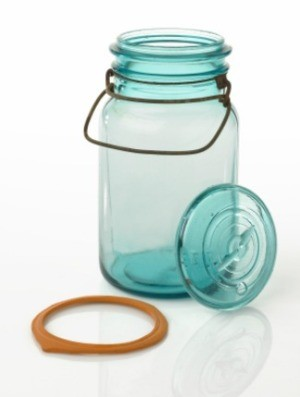 glass canister and gasket