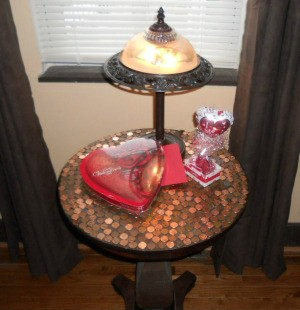 Covering a Tabletop With Pennies